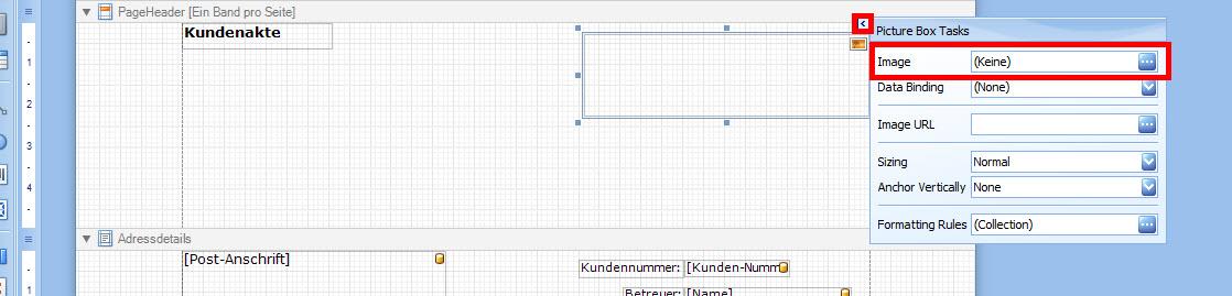 Picturebox-Optionen im Reportdesigner von CODieBOARD# finance-center
