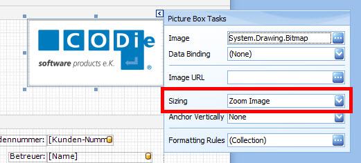 Anpassen der Bildgröße über Zoom Image