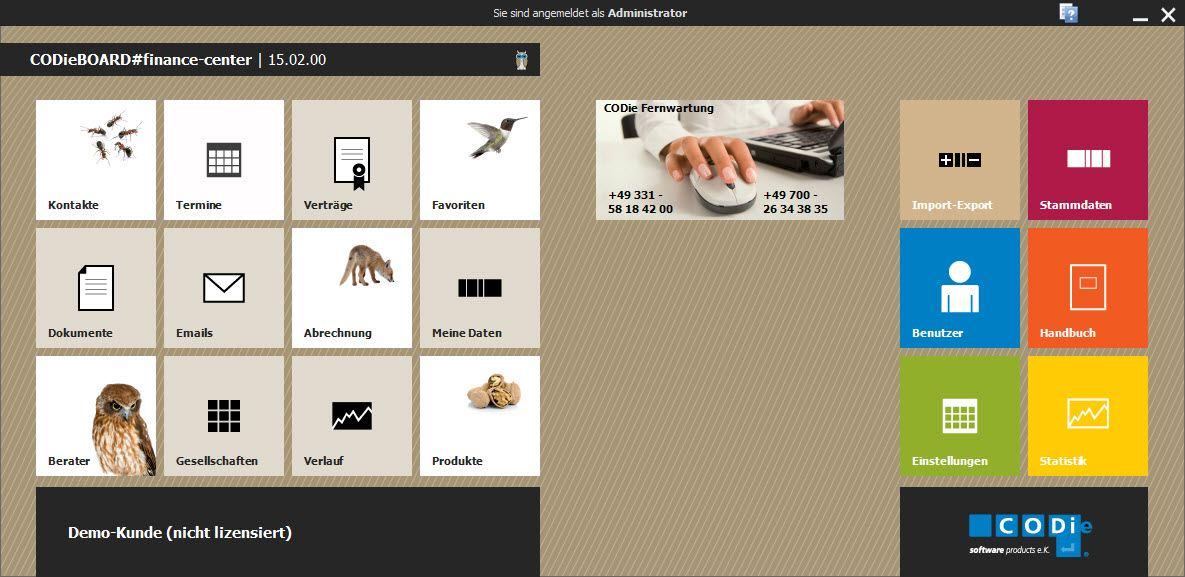 Versicherungsmaklersoftware im neuen Design